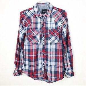 Rails Button Down Plaid Shirt Size S